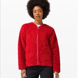 NWT Lululemon Red Oh So Sherpa Full Zip jacket 10